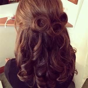 Vintage half up half down wedding hair. | Wedding | Pinterest