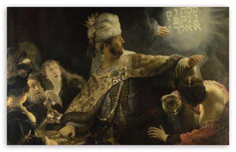 Rembrandt Feast Of Belshazzar 4k Hd Desktop Wallpaper For