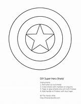 Shield Captain America Pages Coloring Printable Colouring Star Outline Getcoloringpages Hero sketch template