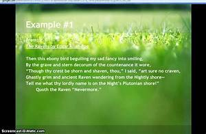 Examples Of Personification In Poetry