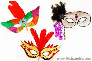 Masquerade Mask Craft | Kids' Crafts | FirstPalette.com