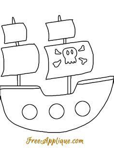 pirate ship pattern   printable outline  crafts