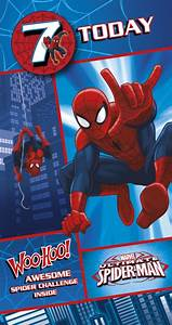 UK Greetings Spiderman 7th Birthday Card | WHSmith
