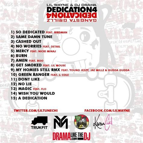 lil wayne no ceilings album tracklist back cover tag lil wayne hq