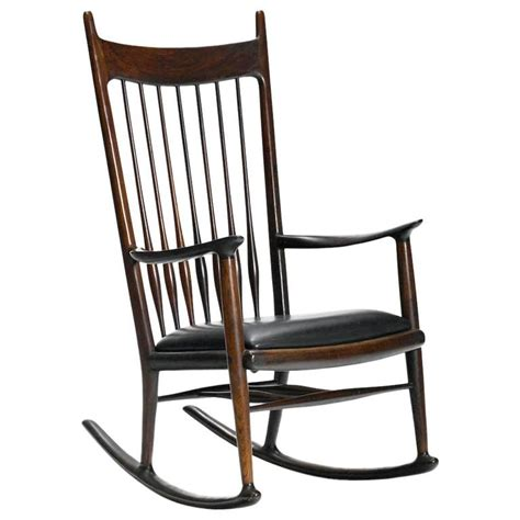 Maloof Rocking Chair Auction by Early Rosewood Rocking Chair By Sam Maloof For Sale