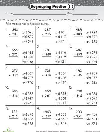 triple digits 3 digit addition subtraction second