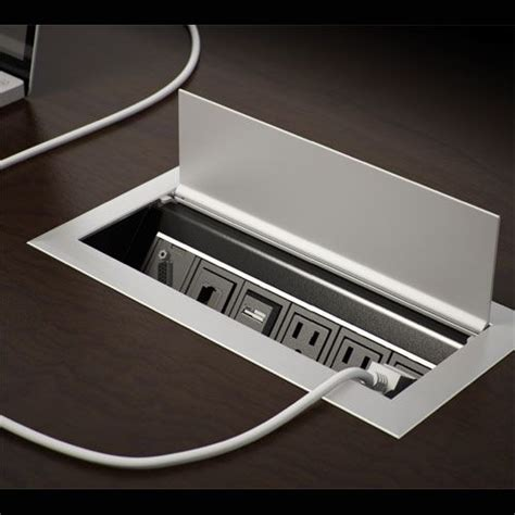 desk outlets power and data ellora professional look and table desk on