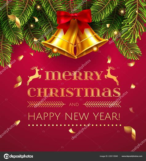 Merry Christmas Happy New Year Greeting Card Chrirstmas