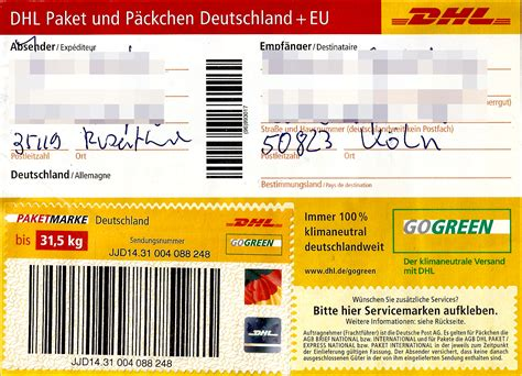 Dhl päckchen international