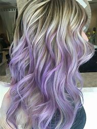 Light Purple Hair with Blonde Highlights