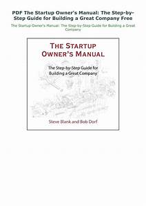 Pdf The Startup Owner U0026 39 S Manual  The Step