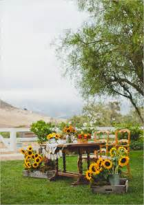 Rustic Sunflower Wedding Tables