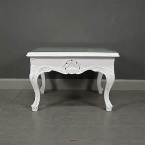 Table Basse Blanche Et Verre : table basse baroque blanche meuble baroque ~ Preciouscoupons.com Idées de Décoration