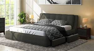 Stanhope Upholstered Storage Bed - Urban Ladder