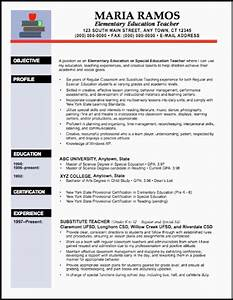 teaching resume objective education resume template word With elementary teacher resume template