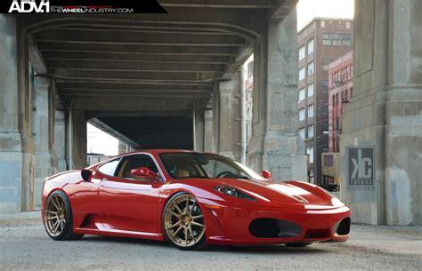 adv wheels ferrari  tuning red wallpaper