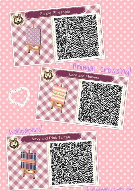 Animal Crossing New Leaf Wallpaper Qr Codes - some cutie pattern qrs i created for wallpaper or