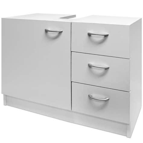 meuble sous evier salle de bain meuble salle de bain rangement sous lavabo blanc achat vente meuble vasque plan meuble