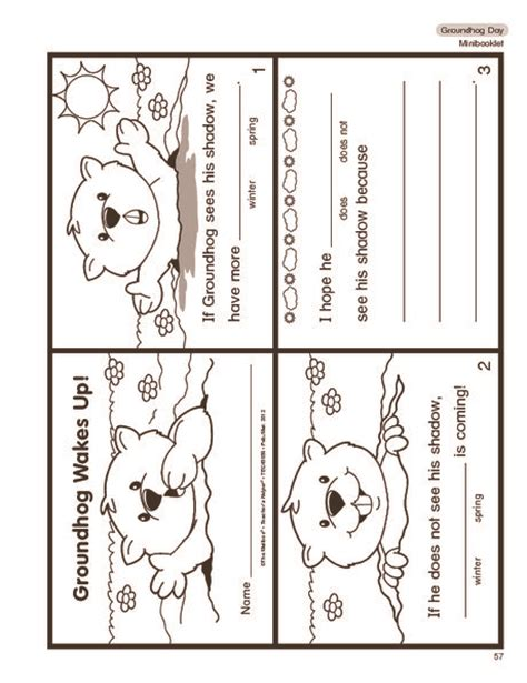 groundhog day preschool activities de 25 bedste id 233 er til groundhog day p 229 163