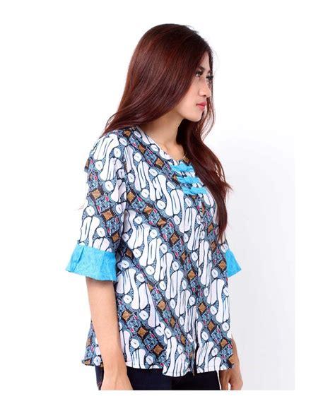 Blouse Atasan Wanita jual blouse batik kombinasi embos baju atasan wanita