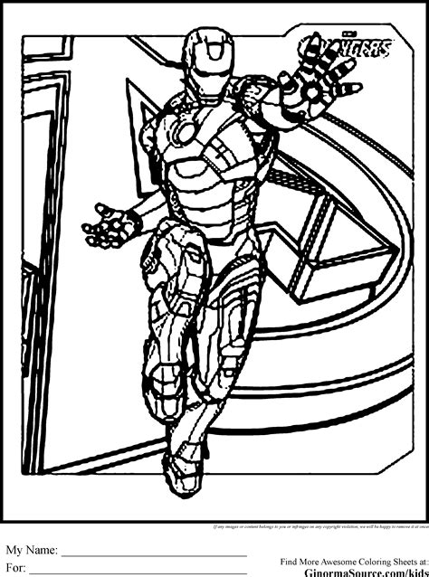 Avengers Drawing Easy Cartoon Coloring Page Iron Man