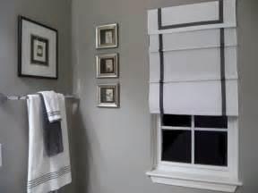 black and gray bathroom ideas southgate residential diy ribbon edged shades