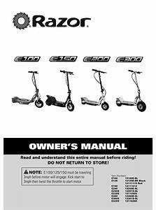 Razor E100 Owner U0026 39 S Manual Pdf Download