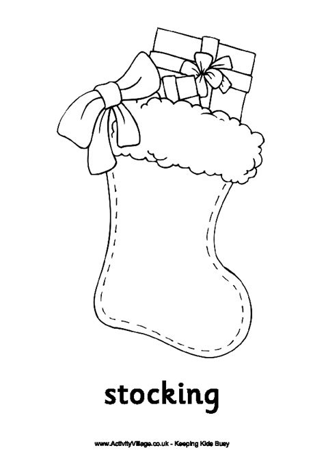 Coloring Page Stocking  New Calendar Template Site