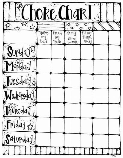 Chore Chart Melonheadz Charts Chores Board Clipart