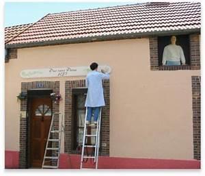 art work decoration facades magasins en trompe l39oeil With deco mur exterieur maison 7 decoration en trompe loeil en exterieur