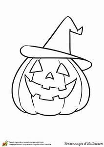 Citrouille D Halloween Dessin : coloriage d une citrouille avec un chapeau de sorci re ~ Nature-et-papiers.com Idées de Décoration