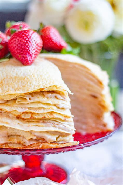layer roasted strawberry crepe cake crepe cake recipe