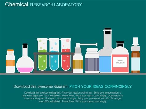 test tubes chemical chemistry lab flat powerpoint