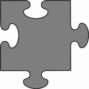 Gray Border Puzzle Piece Clip Art at Clker.com - vector ...
