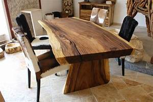 Holztisch Massiv Esszimmer : massivholztisch baumstamm suar der tischonkel ~ Indierocktalk.com Haus und Dekorationen