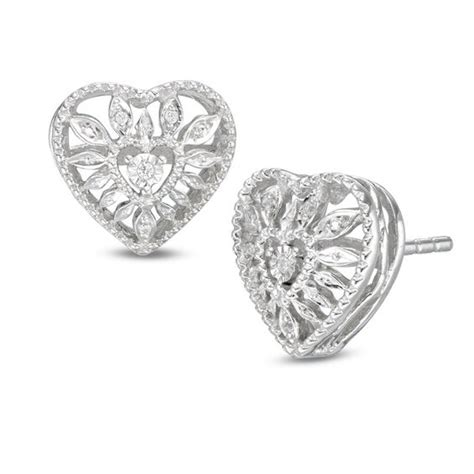 Diamond Accent Heart Starburst Stud Earrings In Sterling. Ankle Bracelet Jewelry. Popular Wedding Rings. Good Quality Earrings. American Diamond Earrings. Tri Bands. Breastplate Necklace. Beads And Jewelry Making Supplies. Male Necklace