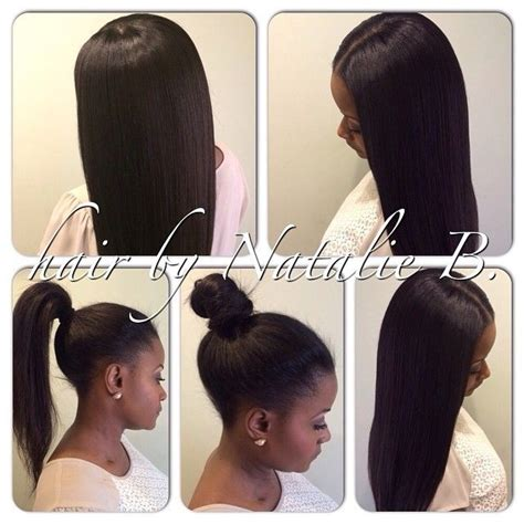 Sew In Ponytail Hairstyles by Middle Part Sew In Ponytail Search Hairstyles