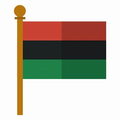 Flag African Pan Kwanzaa Icon Transparent Svg