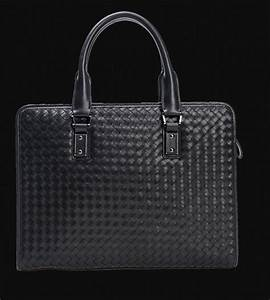Amazing Woven Black Genuine Leather Square Briefcase For ...
