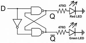 how to build a d flip flop circuit with nand gates With circuit flip flop