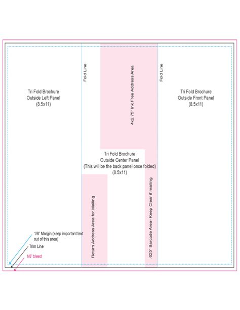 Tri Fold Outside Centre Panel Template Free Tri Fold Outside Centre Panel Template Free
