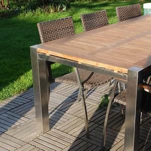 Outdoor Möbel Rattan : massivholz esstische f r garten und terrasse ~ Markanthonyermac.com Haus und Dekorationen