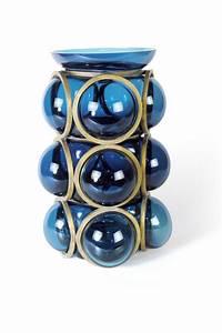 Vase Bleu Canard : vase haut circle en verre souffl bleu canard vanessa mitrani luminaires et vases en verre ~ Melissatoandfro.com Idées de Décoration