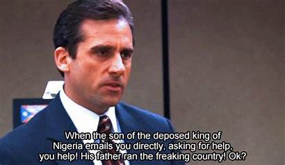 Michael Scott Nigerian Prince Scam Office Email