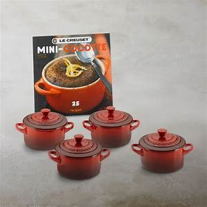 Le Creuset Cocotte : le creuset stoneware 4 piece mini cocotte set with cookbook williams sonoma ~ Buech-reservation.com Haus und Dekorationen