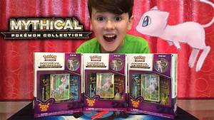 TRIPLE Mythical Pokemon Collection Generations Box Opening ...