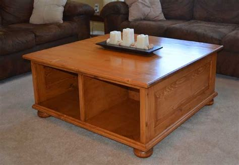 yellow pine coffee table woodworking blog