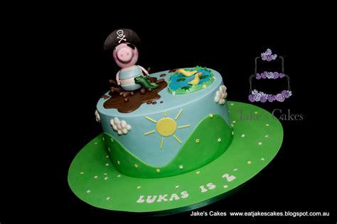jakes cakes pirate george  peppa pig cake