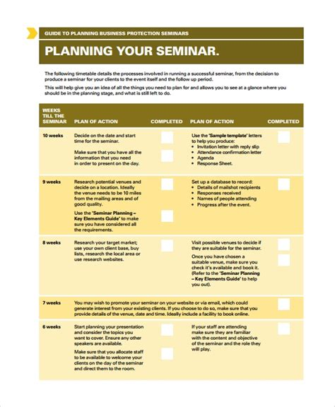 conference seminar proposal template 8 seminar planning templates sle templates