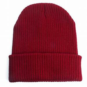 Men Women Knit Plain Beanie Cap Ski Hat Solid Casual ...